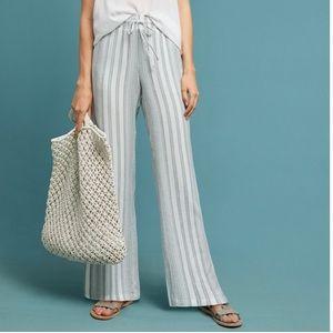 Cloth & Stone Linen Stripe Wide-Leg Pants